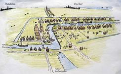 WAT120002907 Impressie van Edam en de omliggende dorpen Middelie en Warder rond 1400