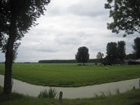 WAT120003425 Aanzicht op het landschap op de hoek van de Groeneweg/Westerweg kijkend richting het Purmerbos