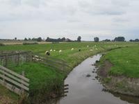 WAT120003327 Aan de linkerkant van de stolpboerderij ''Uilenhoek'', recht tegenover de Edammerweg het restant van de ...
