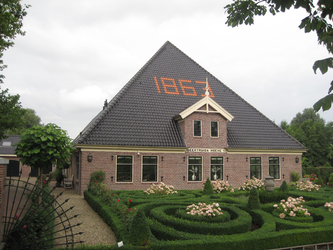 WAT120003349 Stolpboerderij '' Geertruida Hoeve '' aan de Westerweg nummer 59.Woonboerderij.