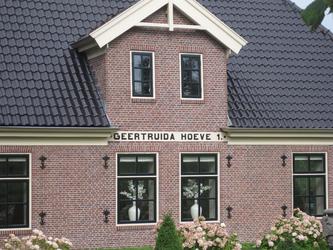 WAT120003350 Stolpboerderij '' Geertruida Hoeve '' aan de Westerweg nummer 59.Woonboerderij.