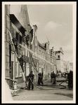 WAT050000362 Blussen van de brand van Noordeinde 7 op 14 juli 1957 om 9.30 u.