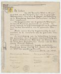 WAT053000046 Proclamatie, door de burgemeester van Wormer Slager, dat de Zaanbrug vanaf 1 januari 1943 tolvrij zal zijn