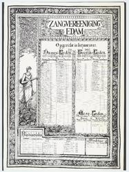WAT053000013 Namenlijst van de leden, bestuurslede, ereleden en directeur van Zangvereeniging Edam in 1933 en 1958