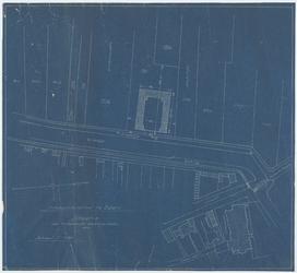 WAT054000055 Kadastrale kaart van de omgeving van de vestinggracht ter hoogte van de Grote Kerk