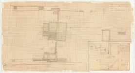 WAT054000085 Plattegrond en doorsneden van de resten van het Joodse badhuis