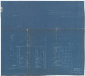 WAT054000132 Plattegronden en kapplan van de bestaande toestand
