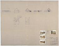 WAT054000318 Plattegrond, geveltekeningen en doorsnede van woning H.P. Konijn, sectie C, no. 341, met situatieschets