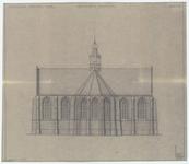 WAT054000169 Geveltekening (oostgevel) van de Nederlands Hervormde Kerk te Oosthuizen