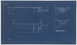 WAT054000211 Plattegrond, aanzicht en doorsneden van een overval in veenderij de Nes