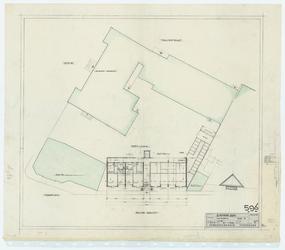WAT054000223 Plattegrond (Plan E) en situatie van bejaardenwoningen aan de Nieuwe Gracht. Blad 2b