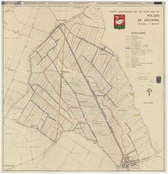 WAT055000041 Topografische kaart van de Zeevang, met daarop aangegeven de status van de verschillende wateren in de polder.