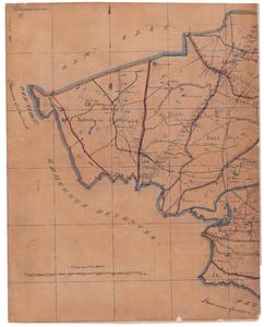19224-14.1 Diepenveen 1 Kaart van een deel van de gemeente Diepenveen met rondom de gemeenten: Gorssel, Voorst, ...