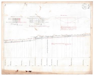 19231-20Y2 [Geen titel] Lengtedoorsnede van de Buurserbeek ten zuiden van Haaksbergen vanaf de huidige N18 richting ...
