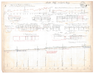 19231-23X2 [Geen titel] Lengtedoorsnede van de Dinkel tussen Lattrop en Denekamp. Hoogtemetingen langs de Dinkel en ...