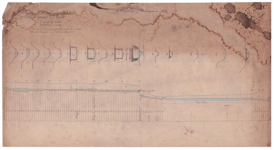 19231-z.c Metingen van 1870. Lengte en dwarsprofilen der Dijksloot van het kanaal tot de Vecht Lengte- en ...