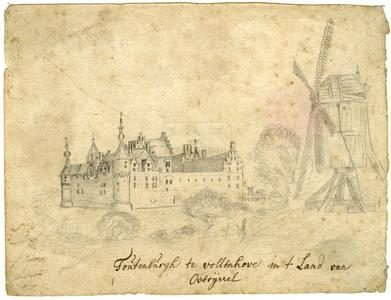 1 -3 Kasteel Toutenburg in Vollenhove, 1700