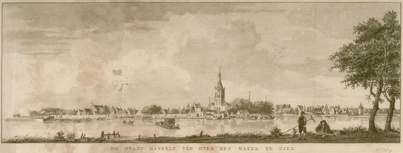 16 -12 Gezicht op Hasselt van over het Zwarte Water., 1700