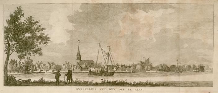 16 -16 Gezicht op Zwartsluis vanaf de dijk., 1700