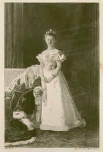 16 -5 Portret van prinses Wilhelmina in vol ornaat., 1900