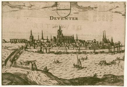 2 -10 Gezicht op Deventer., 1600