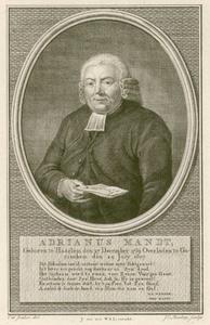 2 -16 Portret van Adrianus Mandt. Het onderschrift is een vers van H.S. Manger-Mandt ter nagedachtenis aan haar man., 1810