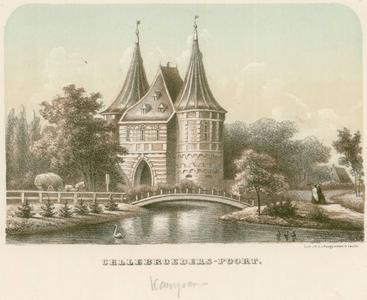 2 -5 Afbeelding van de Cellebroederspoort in Kampen., 1800