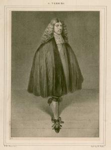 3 -3 Portret van G. Terburg, vermoedelijk naar een schilderij., 1800