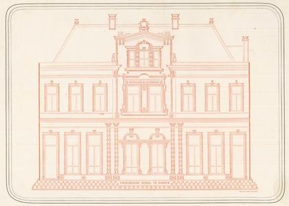 3 -9 Afbeelding van de voorgevel van de Theologische school in Kampen., 1800-00-00