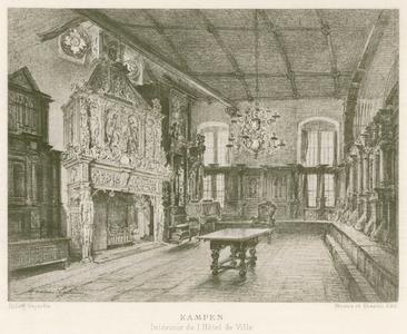 5 -2 Het interieur van een hotel in Kampen, naar een tekening van Maxime Lalarme Heliog., 1800