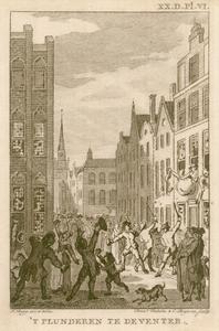 9 -5 Afbeelding van het plunderen van patriottische huizen in Deventer op 20 september 1787., 1790