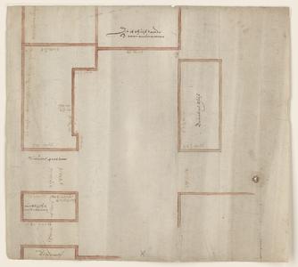 12461-KD000093 [Zonder titel]Ingekleurde plattegrond van de panden van het voormalig klooster Betlehem, aan de ...
