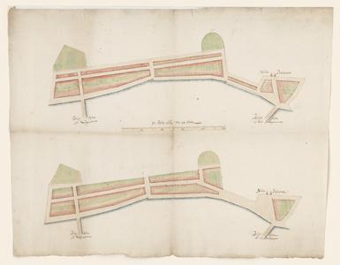 1263-KD000044 [Zonder titel]Twee ontwerptekeningen voor de uitbreiding van de stad Zwolle ten noorden van de Dijk (nu ...