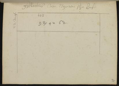 9110-KD000144 [Zonder titel]Plattegrond van de hof van Gijsbartus van Eegeren. Waarschijnlijk in de Walstraat vanaf de ...