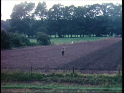10545 BB02264 Reportage over werkzaamheden, uitgevoerd door Loonbedrijf J.Olthof: machinaal poten en oogsten van mais ...