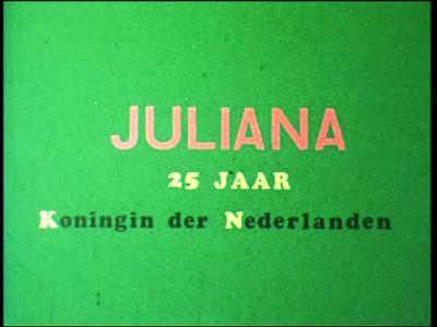 10853 BB02284 Een film rondom een historische optocht ter gelegenheid van het 25-jarig jubileum van Koningin Juliana ...