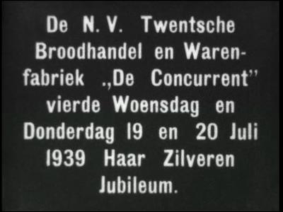 11478 BB01798 Bedrijfsfilm over de Twentse Brood-, Bak-, en Warenfabriek 'De Concurrent' uit Enschede anno 1939. Ter ...