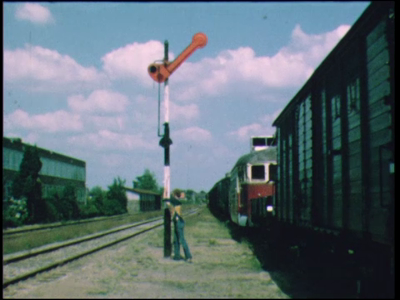 12464 BB01916 Een film met beelden vanuit de stoomlocomotief op de museumspoorlijn Haaksbergen-Boekelo, gevolgd door ...