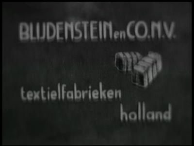 12502 BB03019 Een film rondom de textielfabricage, met beelden van de textielfabriek, een baby dat een katoenen hemd ...