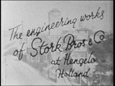 12754 BB01918 Een film rond machinefabriek Stork te Hengelo, met beelden van het voorstellen van de directie, de ...