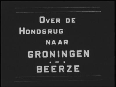 12780 BB01945 Samenvatting:Privé-opnamen van een autotocht over de Hondsrug naar Groningen, gevolgd door beelden van ...