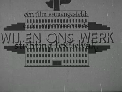 13180 BB03121 Voorlichtingsfilm uit 1948 van de Stichting Textielvak over het belang van de textielindustrie in ...