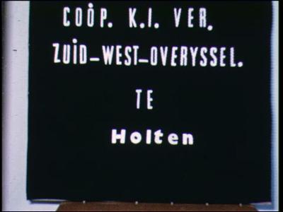 13203 BB00242 Documentaire over de verschillende activiteiten van de Coöperatieve K.I. vereniging Zuid-West-Overijssel ...