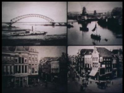 13773 BB02603 Documentaire met oude foto's van de gebouwen, apparatuur, personeel en hoogspanningsmasten van de ...