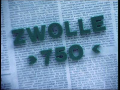 14558 BB11166 Een film rondom een feestelijke optocht in Zwolle n.a.v. 750 jaar stadsrechten, met beelden van o.a.:- ...