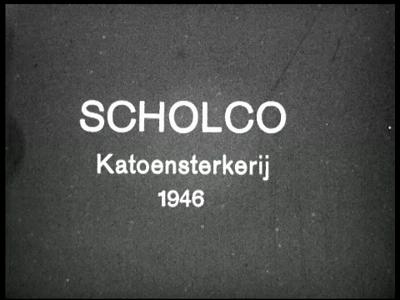 14797 BB06698 Een film rond de katoensterkerij van Scholco te Losser, met beelden van o.a.:- Het productieproces in de ...