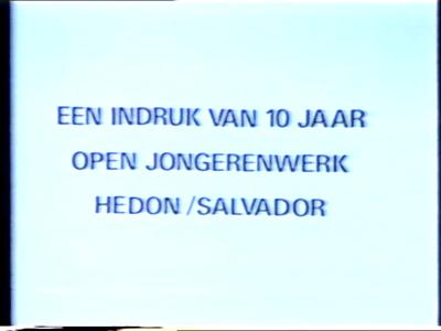 14805 BB07149 Een reportage over het 10 jarig bestaan van het gebouw De Branie, waarin jongerencentrum Hedon gevestigd ...