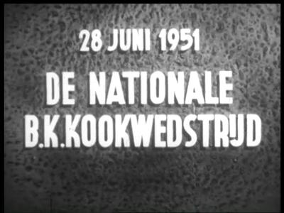 3078 BB03249 Reportage over een kookwedstrijd in de Houtrusthallen in Den Haag ter gelegenheid van het 100-jarig ...
