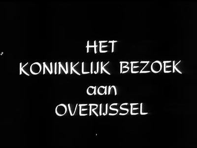 3770 BB04870 Een film rondom een tweedaags bezoek van Koningin Juliana en Prins Bernhard aan de provincie Overijssel, ...