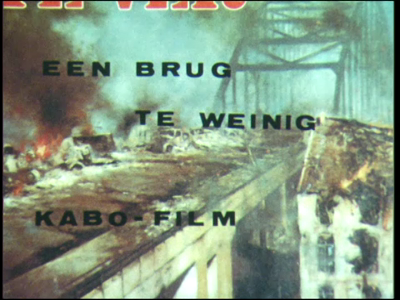 4269 BB04266 Film gemaakt tijdens de opnamen van de oorlogsfilm 'A Bridge Too Far'., 1975-00-00